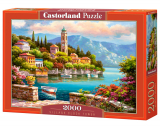Puzzle Castorland Village Clock Tower 2000 Dielikov