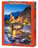 Castorland Puzzle Night in Ramsau, Germany  500 Dielikov
