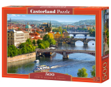 Castorland Puzzle View of Bridges in Prague 500 Dielikov