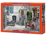 Castorland Puzzle Charming Alley With Red  Bicycle 500 Dielikov