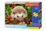 Castorland puzzle Hedgehog with Berries 100 dielikov