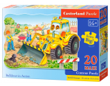Puzzle Castorland Bulldozer in action 20 dielikov
