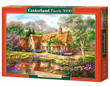 Puzzle Castorland Twilight at Woodgreen Pond 3000 Dielikov