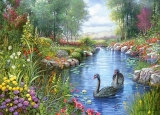 Castorland Puzzle BLACK SWANS, ANDRES ORPINAS 1500 dielikov