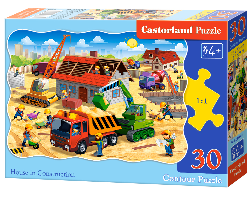Puzzle Castorland House in Construction  30 Dielikov