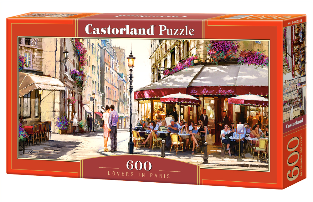 Castorland Puzzle Lovers in Paris 600 Dielikov