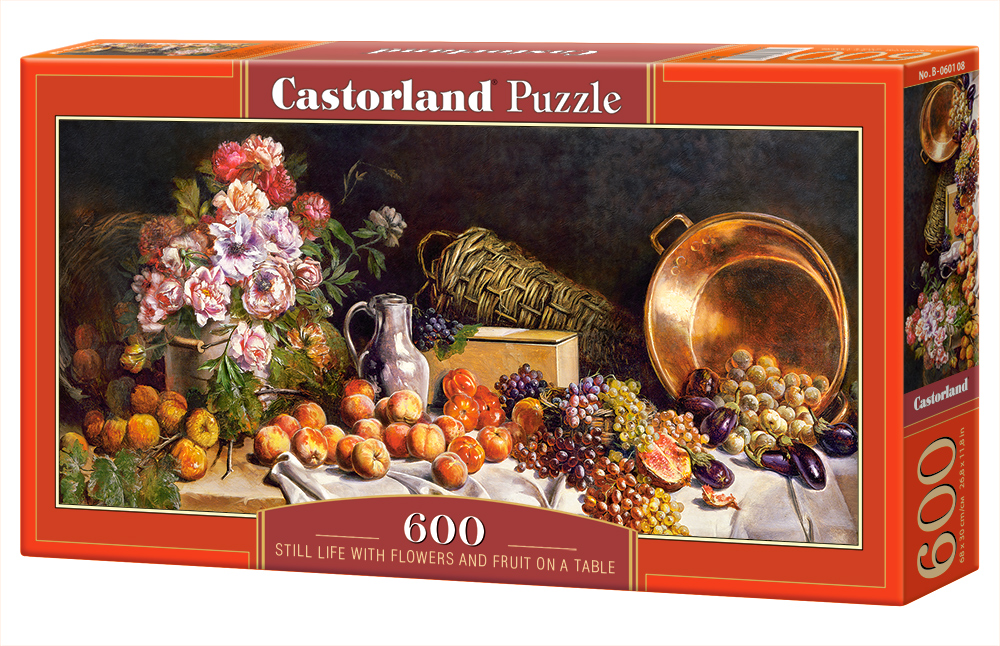 Castroland Puzzle Still life with flowers and fruit on a table 600 Dielikov