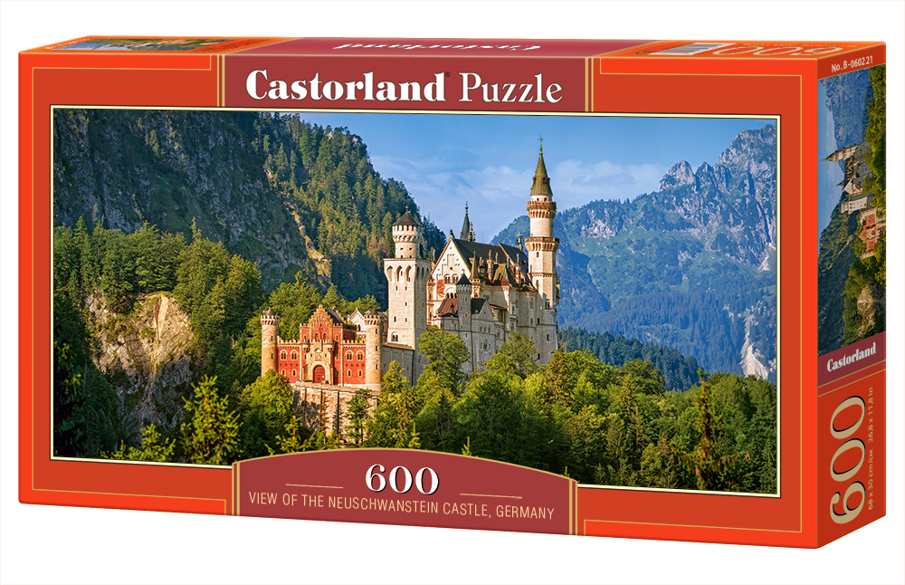 Castorland Puzzle View of the Neuschwanstein Castle, Germany 600 Dielikov