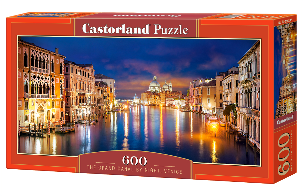 Castorland Puzzle The Grand Canal by Night, Venice 600 Dielikov
