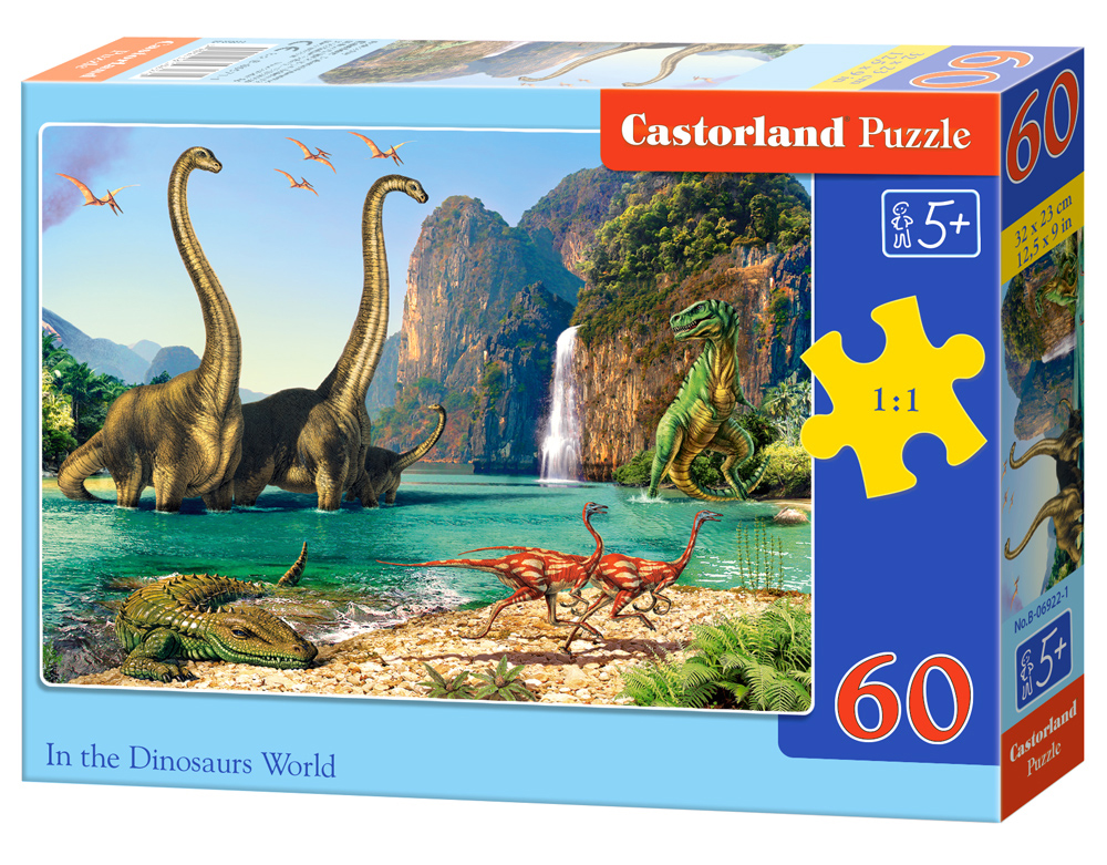 Puzzle Castorland In the Dinosaurus Word 60 Dielikov