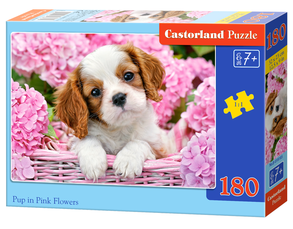Castorland Puzzle Pup in Pink Flowers 180 dielikov