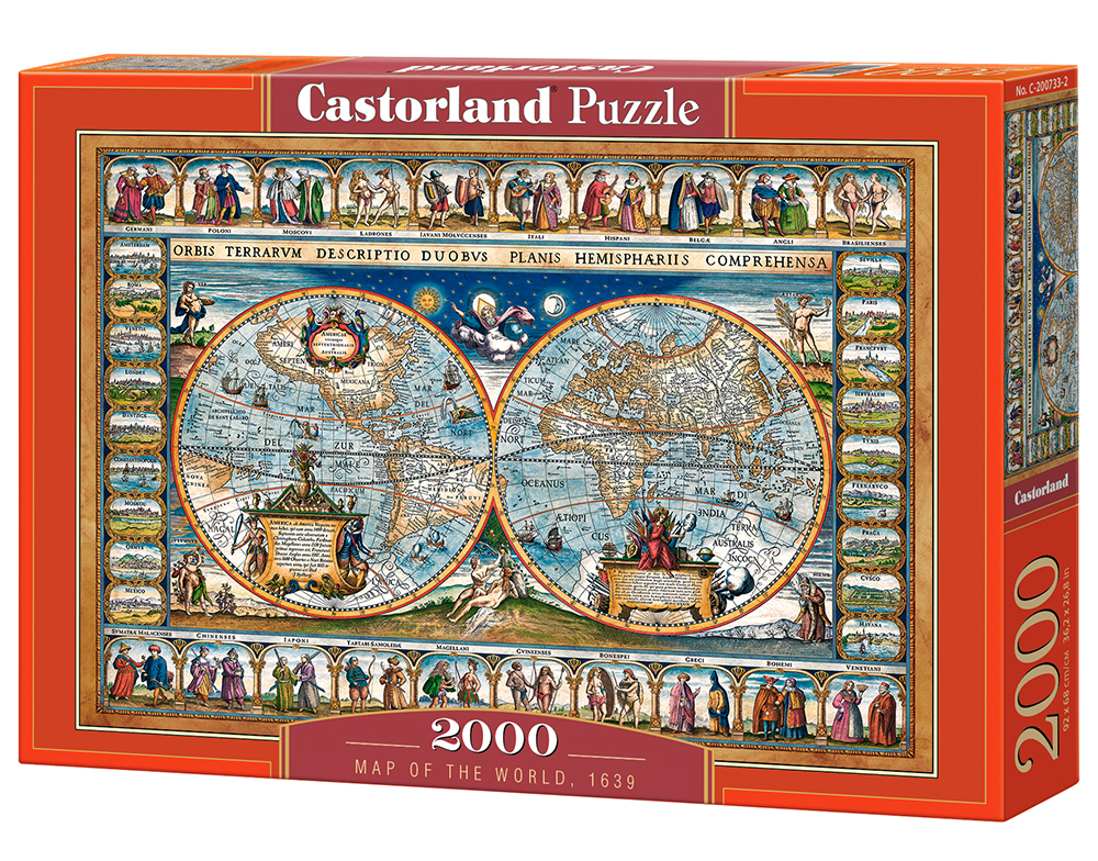 Puzzle Castorland Map of the World, 1639 2000 Dielikov