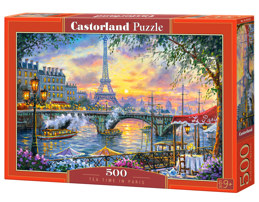 Castorland Puzzle Tea Time in Paris 500 Dielikov