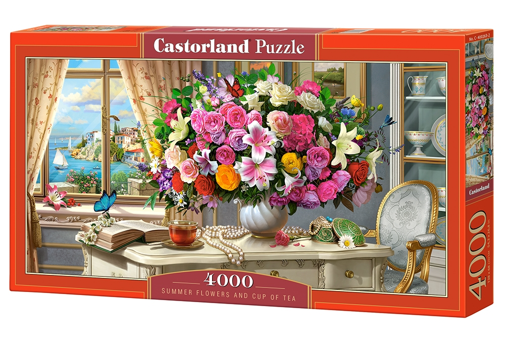 Puzzle Castorland Summer Flowers and Cup of Tea 4000 Dielikov