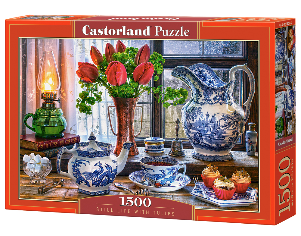 Puzzle Castorland Still Life With Tulips 1500 Dielikov