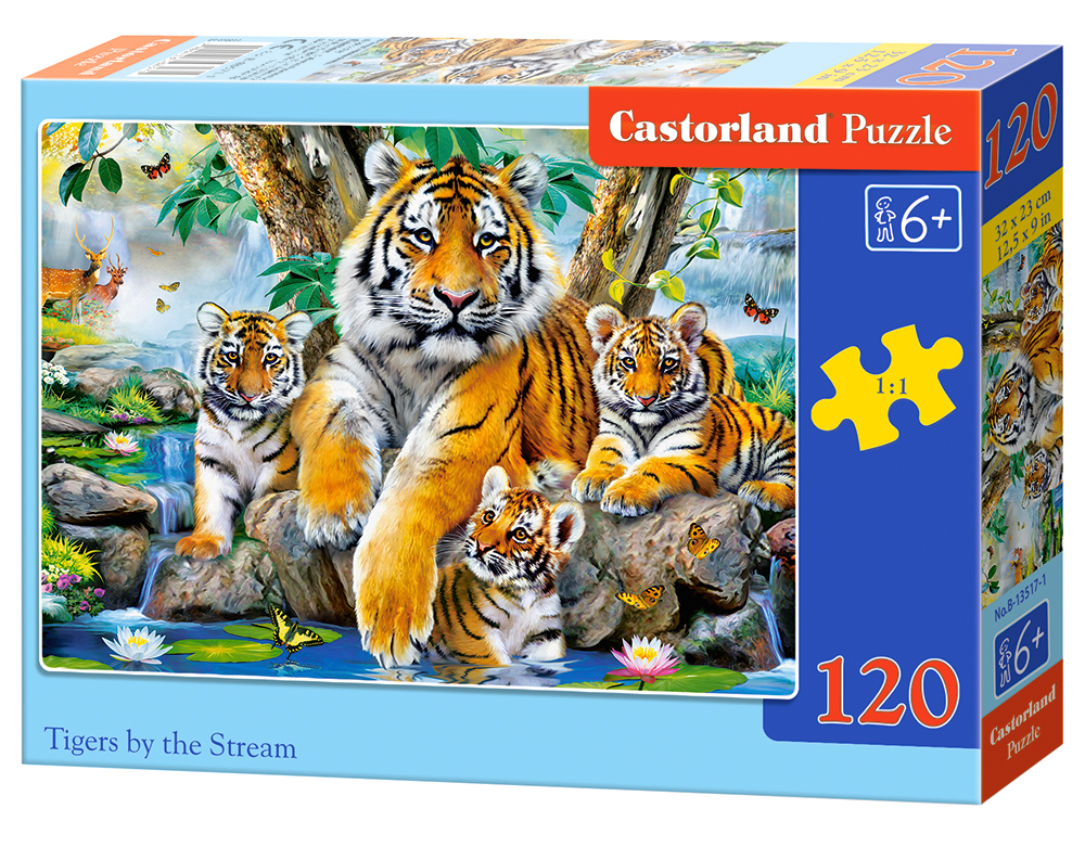 Puzzle Castorland Tigers by the Stream 120 Dielikov