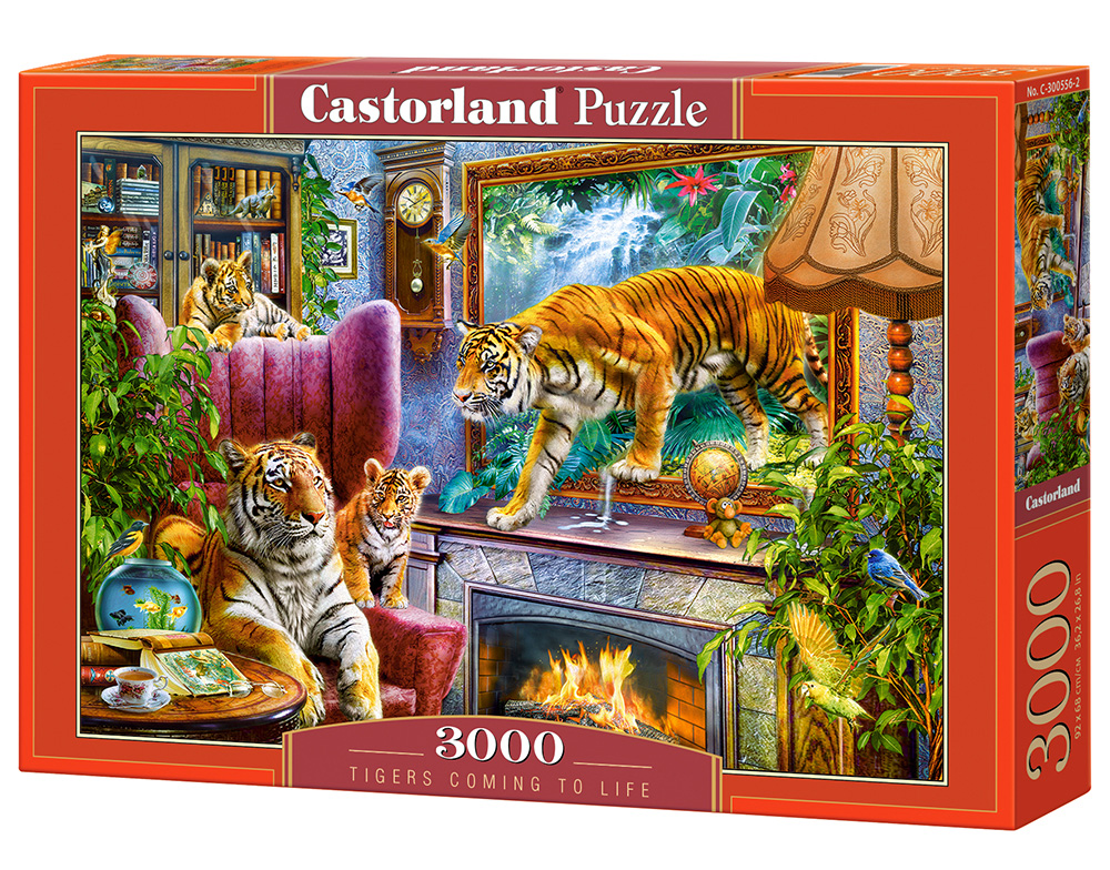 Puzzle Castorland Tigers Comming to life 3000 Dielikov