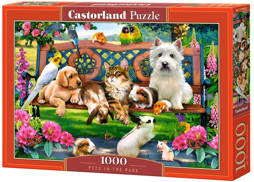 Puzzle Castorland Pets in the Park 1000 Dielikov