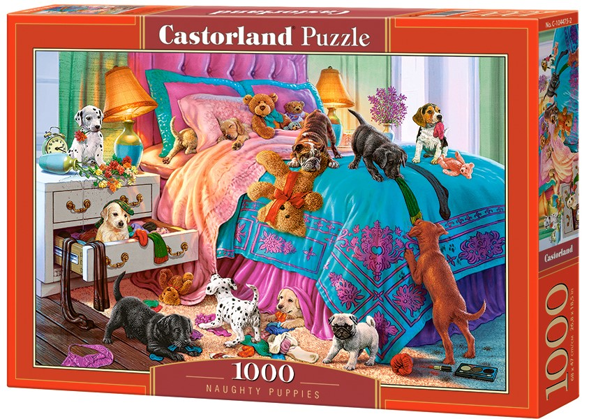 Puzzle Castorland Naughty Puppies 1000 Dielikov