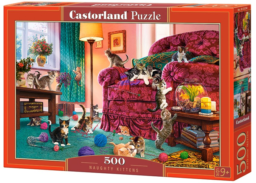 Castorland Puzzle Naughty Kittens 500 Dielikov