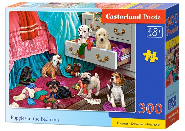 Castorland Puzzle Puppies in the Bedroom 300 dielikov