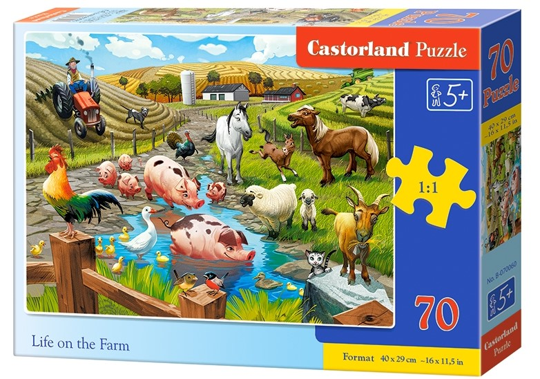 Puzzle Castorland Life on the Farm 70 DIelikov