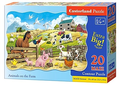 Puzzle Castorland Animals on the Farm 20 dielikov