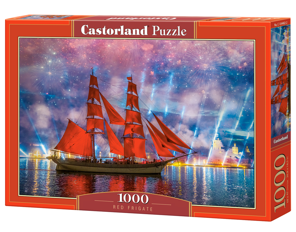 Puzzle Castorland Red Frigate 1000 Dielikov