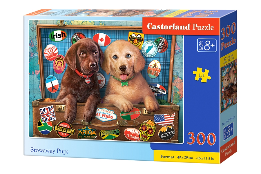 Puzzle Castorland Stowaway Pups 300 dielikov