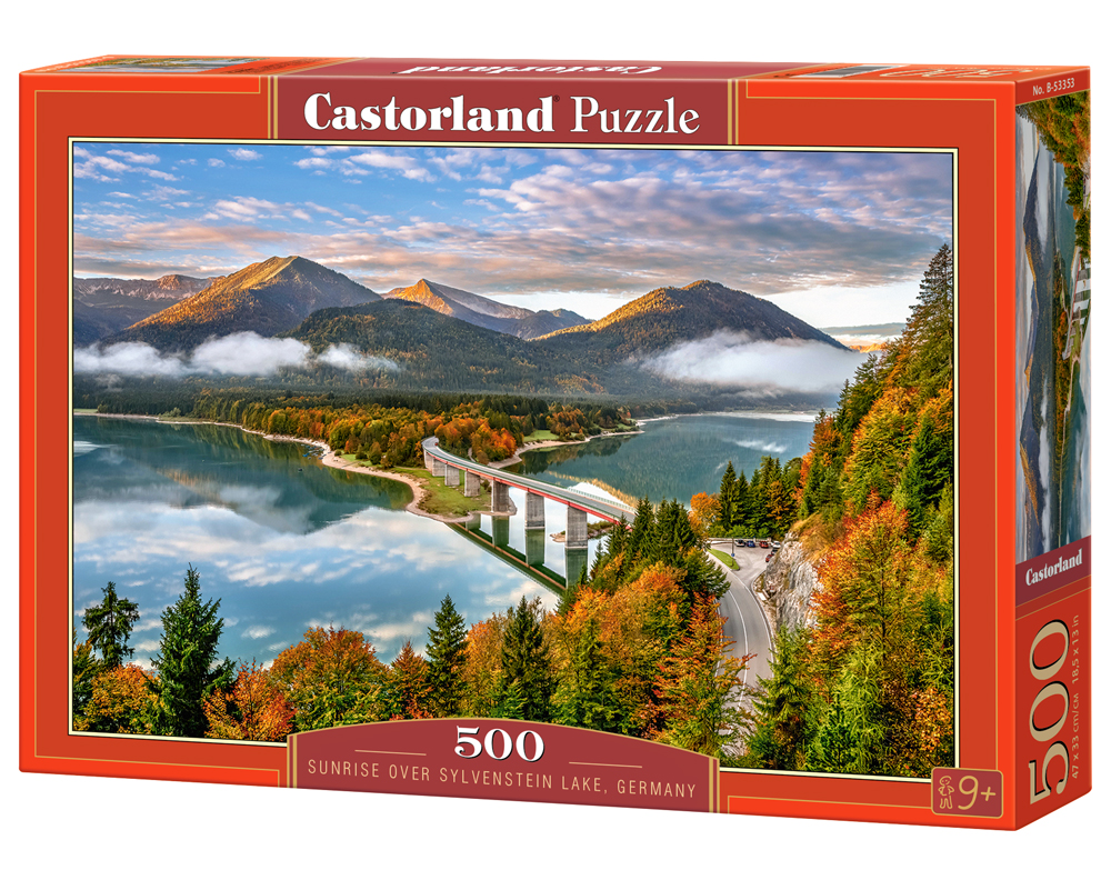 Castorland Puzzle Sunrise over Sylvenstein Lake, Germany 500 Dielikov