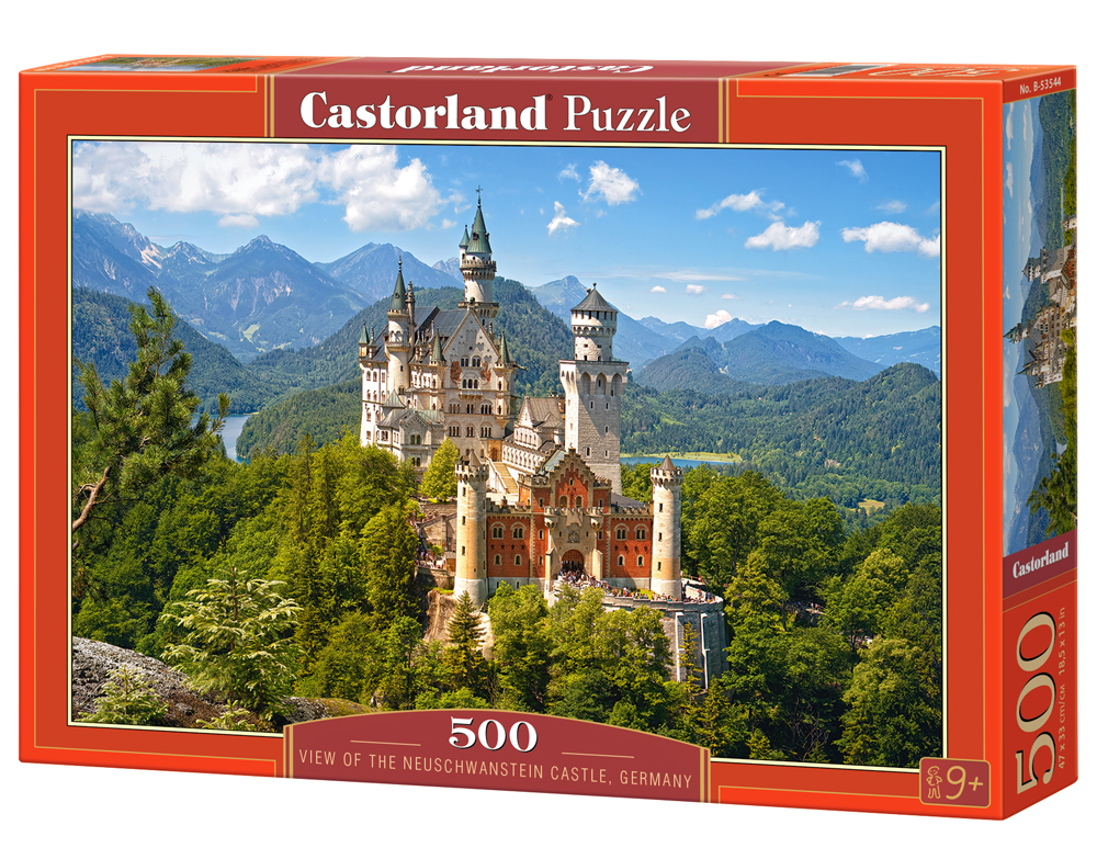 Castorland Puzzle View of the Neuschwanstein Castle, Germany 500 Dielikov