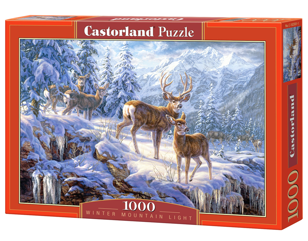 Puzzle Castorland Winter mountain  1000 Dielikov