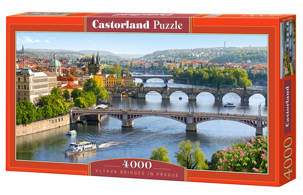 Puzzle Castorland Vltava Bridges in Prague 4000 Dielikov