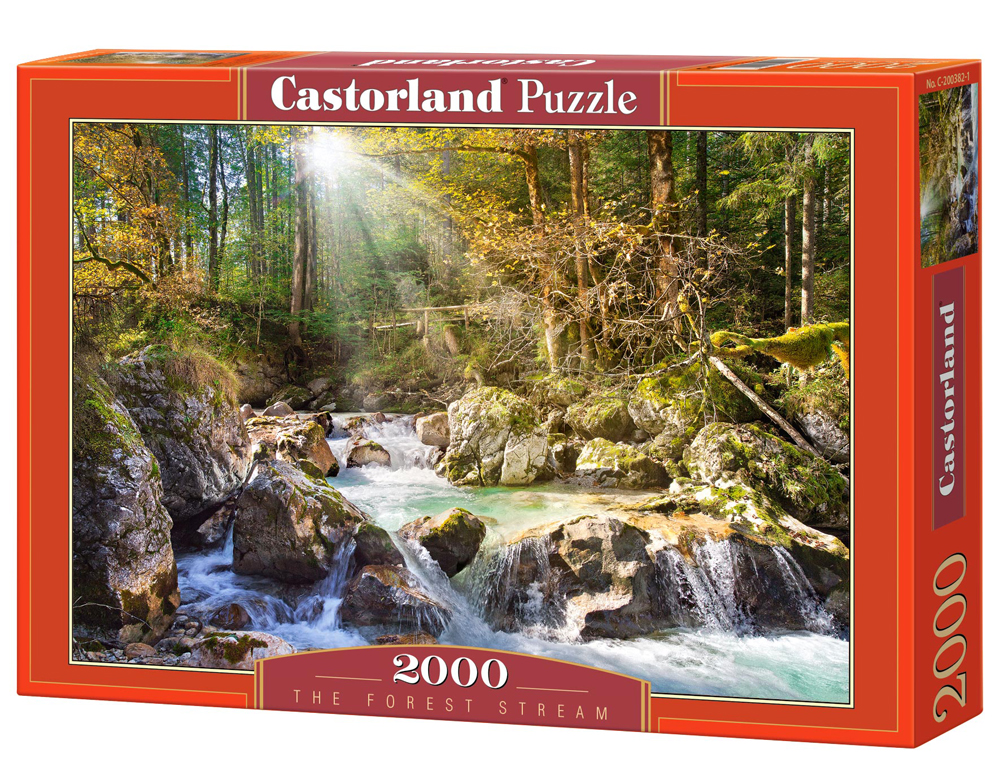 Puzzle Castorland The forest stream 2000 Dielikov