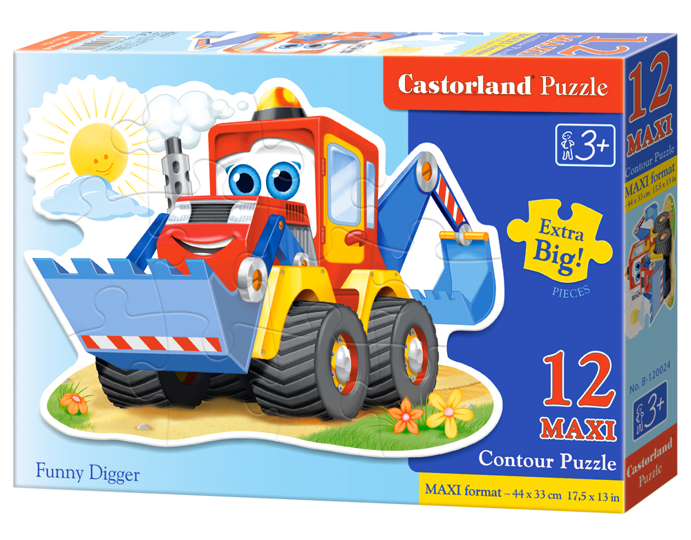 Puzzle Castorland Funny Digger 12 dielikov
