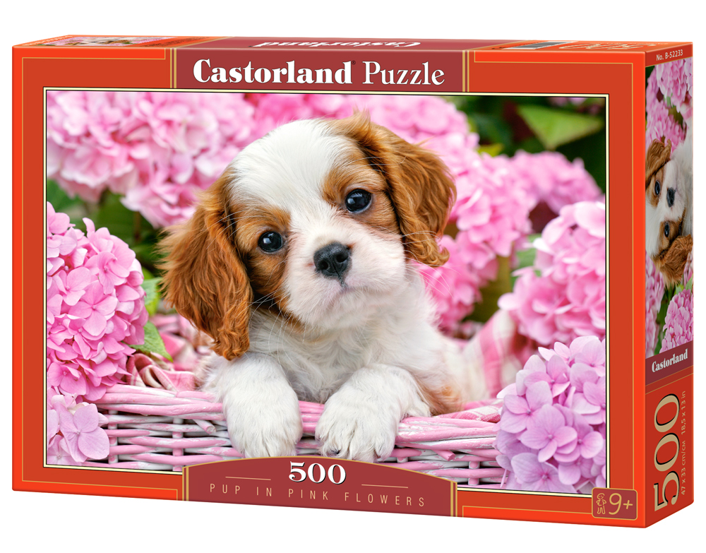 Castorland Puzzle Pup in Pink Flowers  500 Dielikov