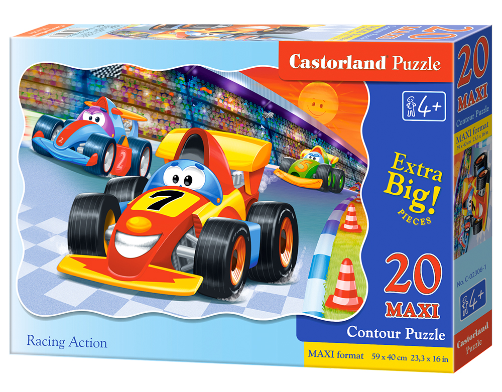 Puzzle Castorland Racing Action 20 dielikov