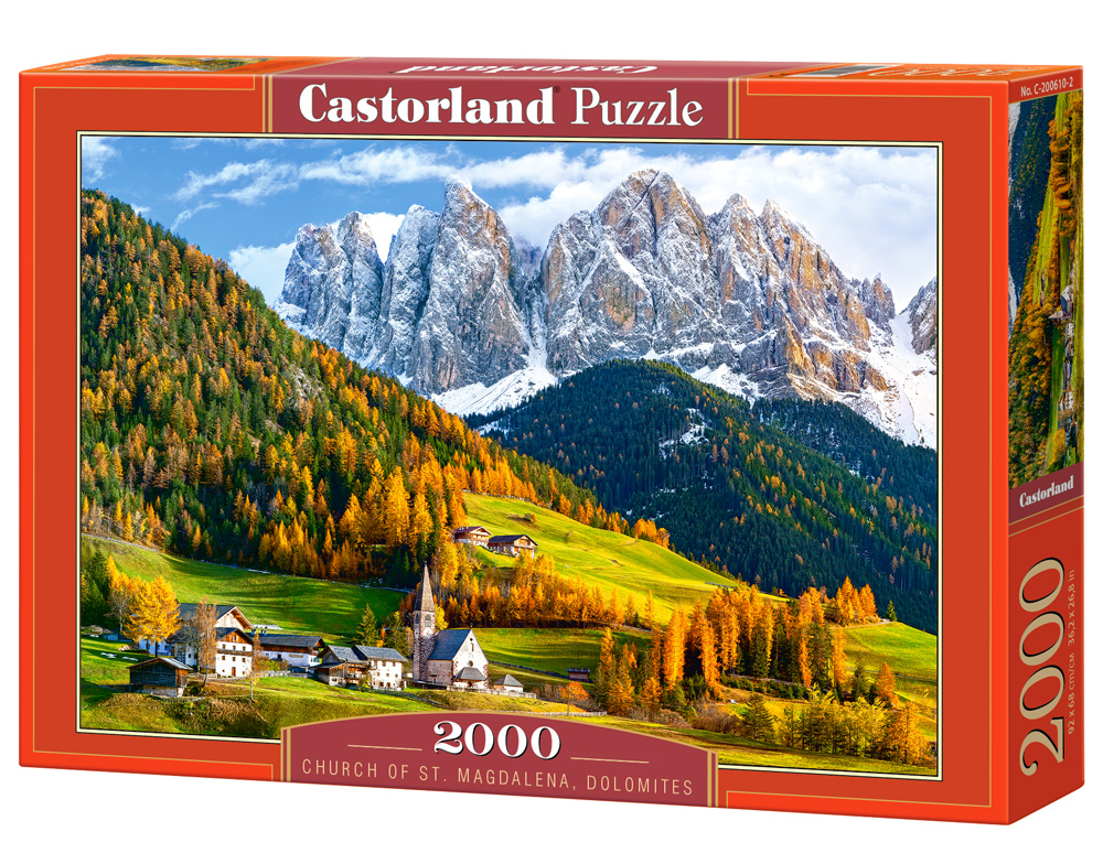 Puzzle Castorland Church of St. Magdalena, Dolomites 2000 Dielikov