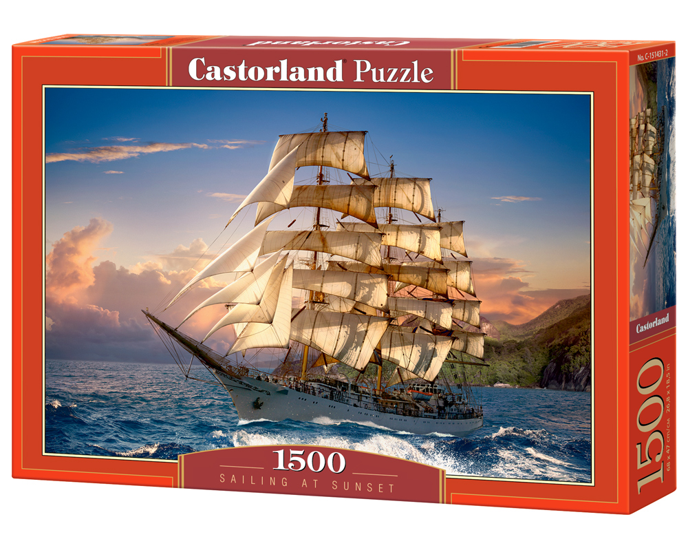Puzzle Castorland Sailing at Sunset 1500 Dielikov