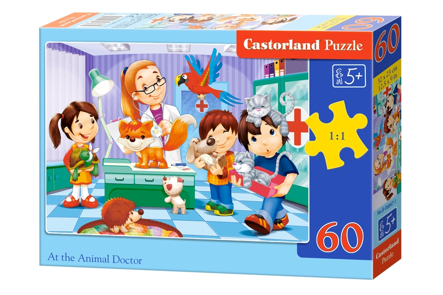 Puzzle Castorland At the Animal Doctor 60 Dielikov