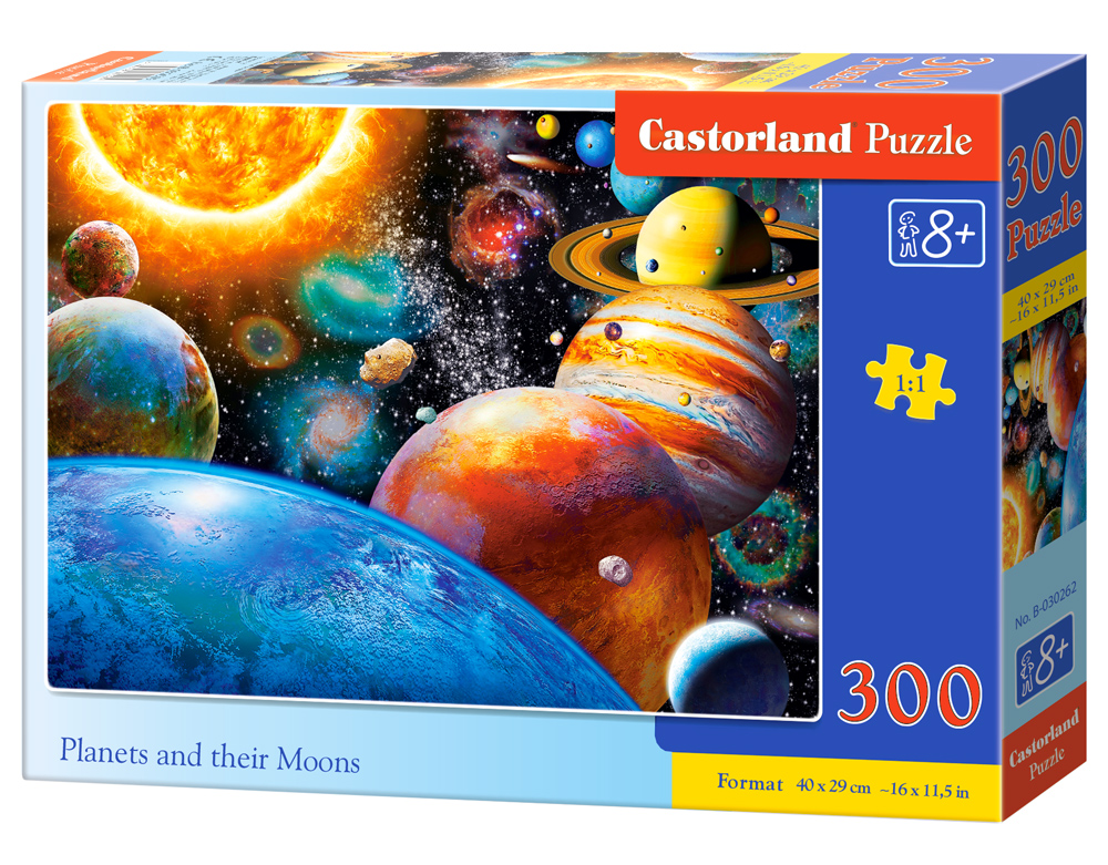 Castorland Puzzle Planets and their Moons 300 dielikov