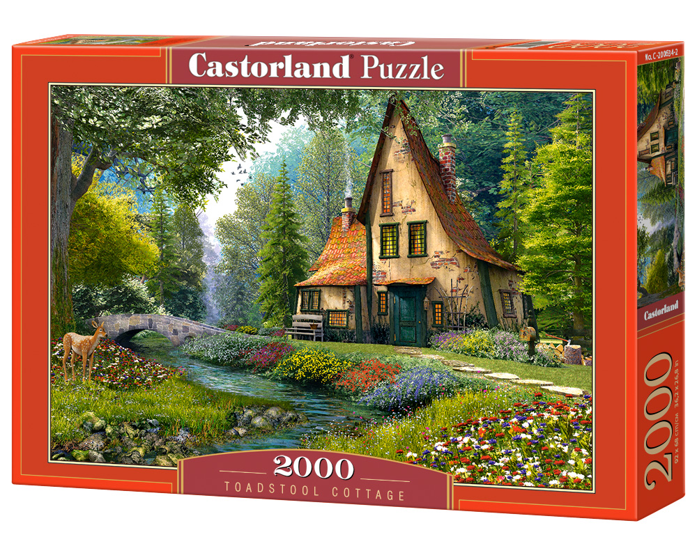 Puzzle Castorland Toadstool Cottage 2000 Dielikov