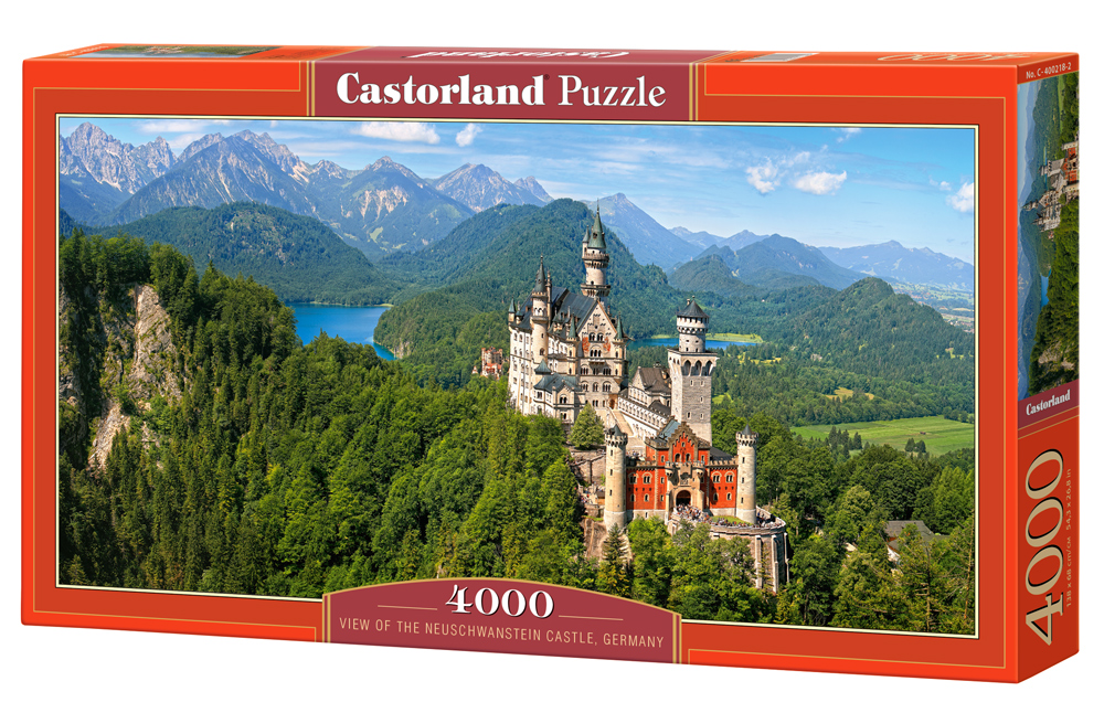 Puzzle Casotrland View of the Neuschwanstein Castle, Germany 4000 Dielikov