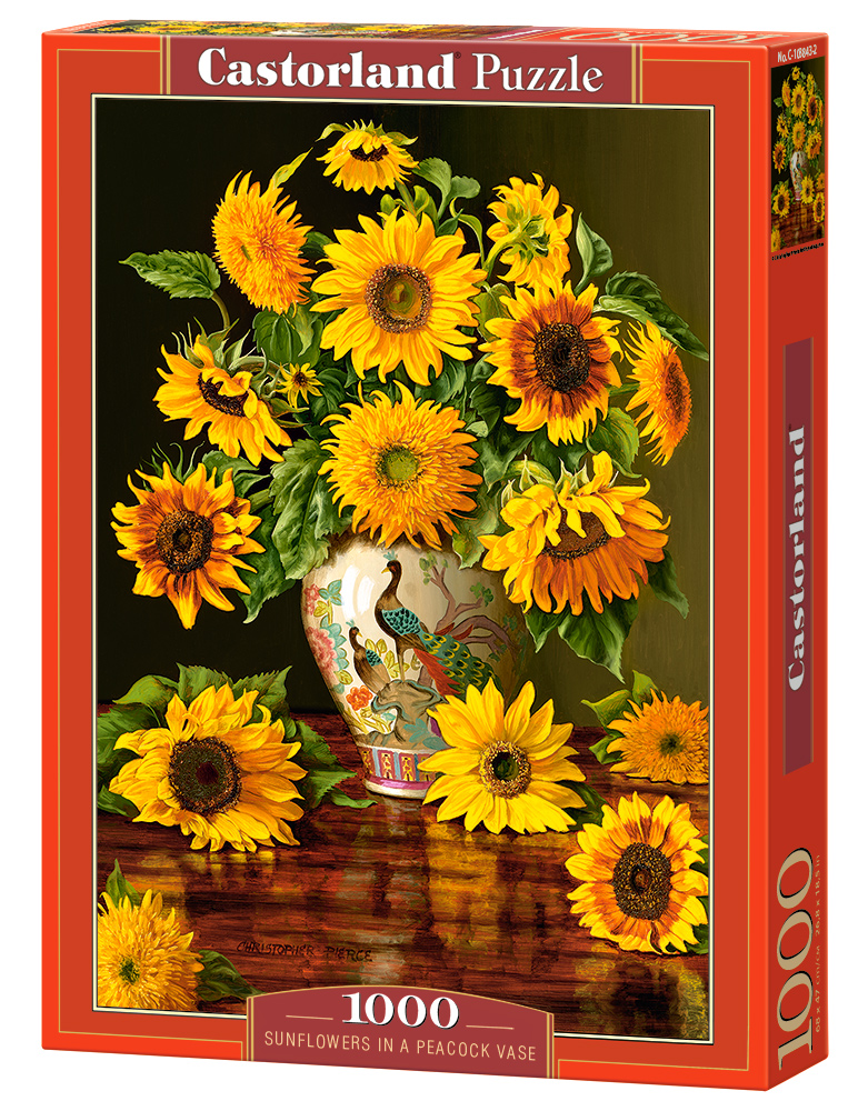 Castorland Puzzle Sunflowers in a Peacock Vase 1000 Dielikov