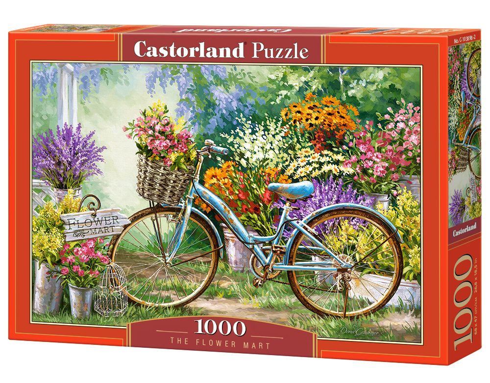 Castorland Puzzle The Flower Mart 1000 Dielikov