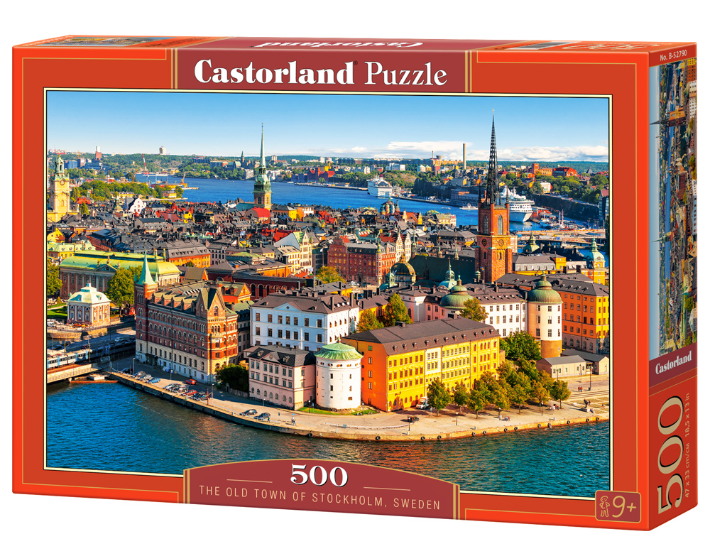 Castorland Puzzle The Old Town of Stockholm, Sweden 500 Dielikov