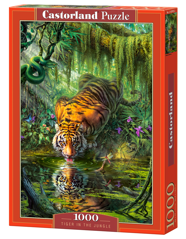 Castorland Puzzle Tiger in the Jungle 1000 Dielikov