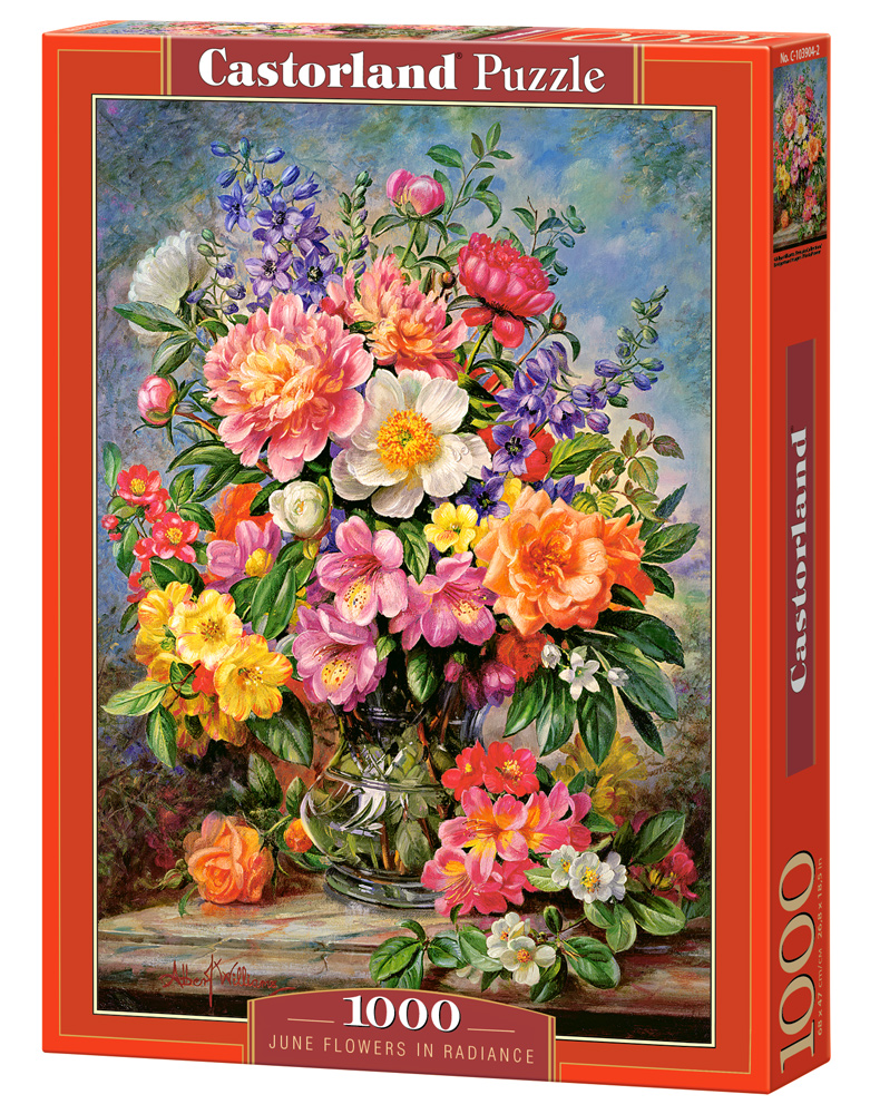 Castorland Puzzle June Flowers in Radiance 1000 Dielikov