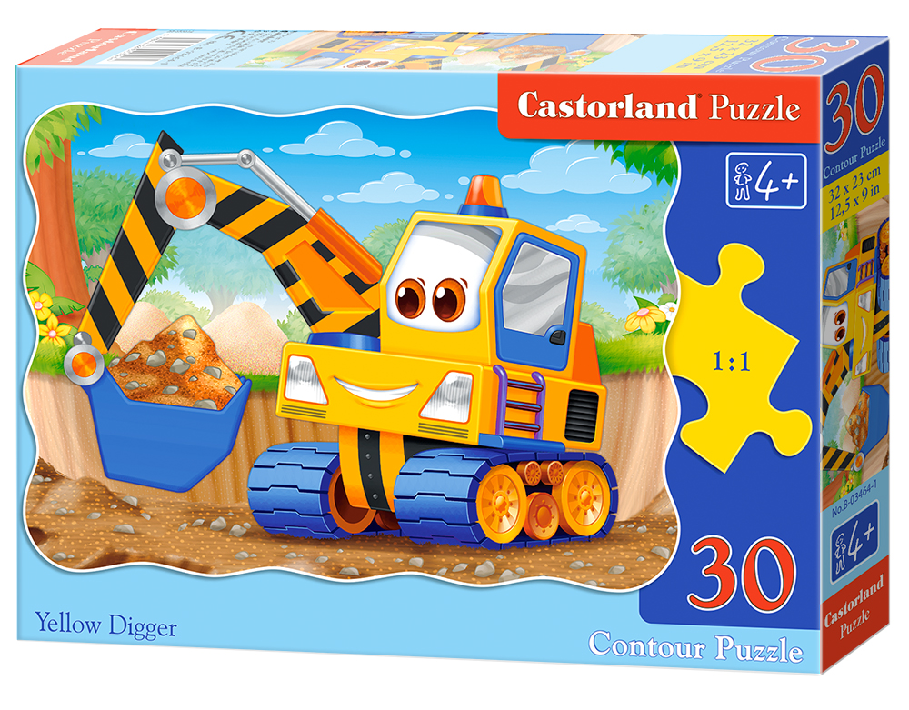 Puzzle Castorland Yellow Digger 30 Dielikov