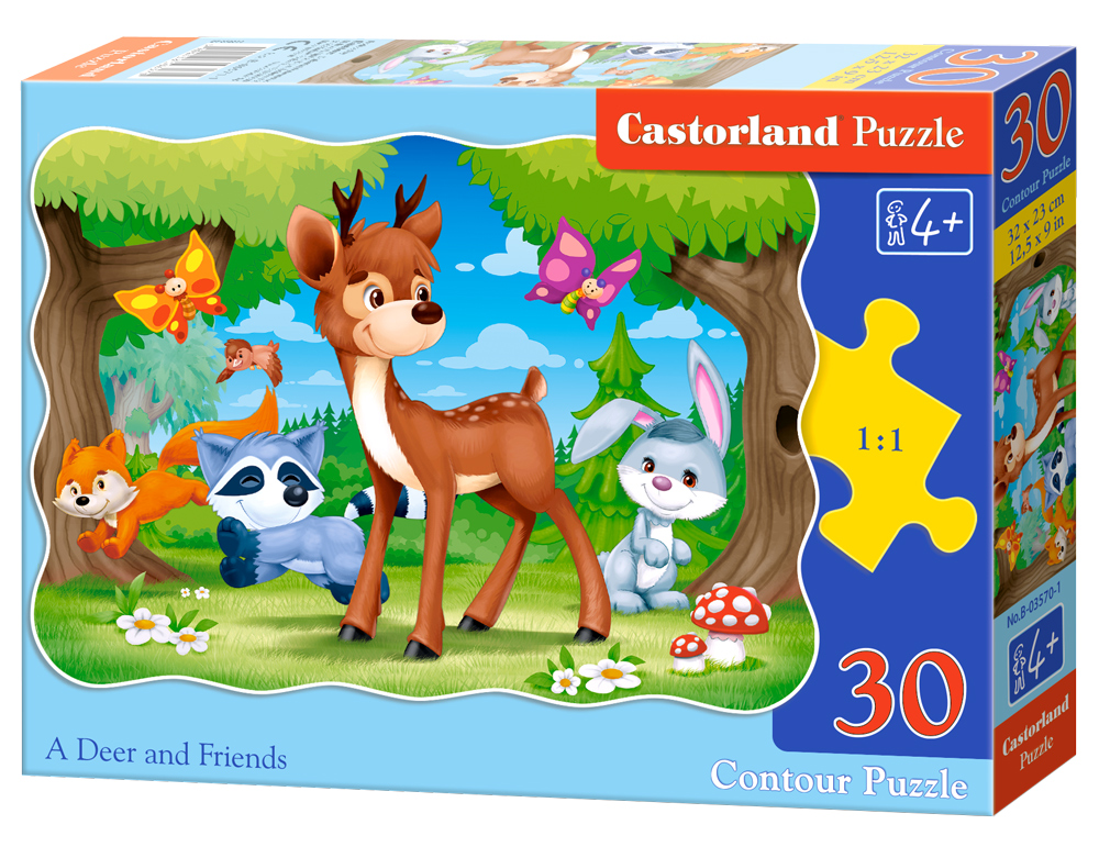 Puzzle Castorland A Deer and Friends  30 Dielikov